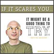 Seth Godin if it scares you